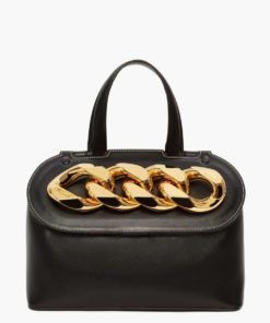 CHAIN LID BAG BLACK