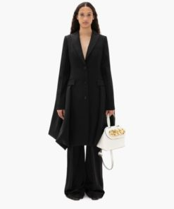 DRAPED BACK TUXEDO COAT
