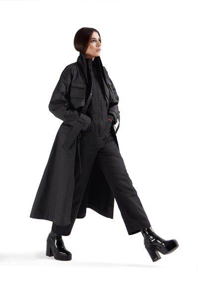 Safari Trench Coat Black