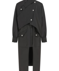 Safari Trench Coat Waterproof Black