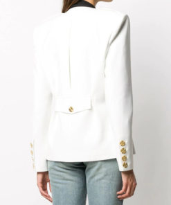 White Multi-pocket Stylish Jacket