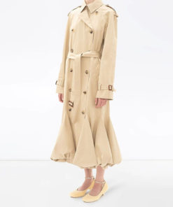 Bubble hem trench coat