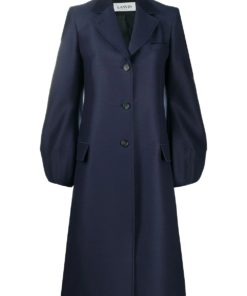 LANVIN balloon sleeve single-breasted coat