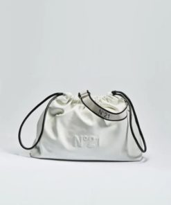 N21 Eva crossbody logo bag white