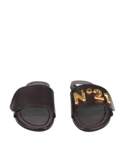 N21 logo detail sandals black