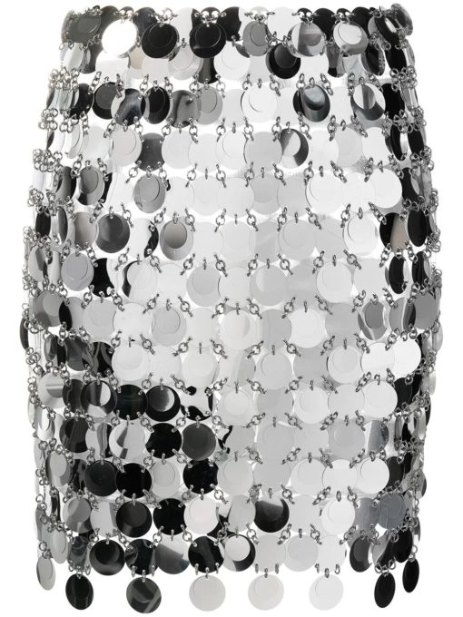 Paco Rabanne Mini skirt with mirror-effect discs