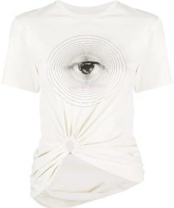 Paco Rabanne graphic print white T-Shirt
