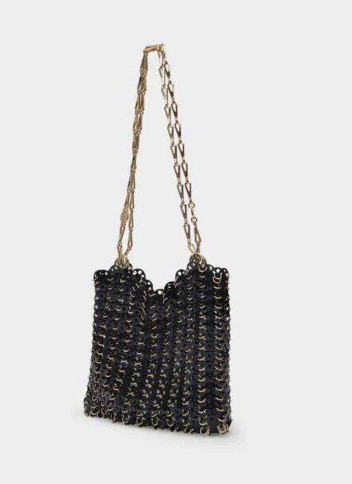 Paco Rabanne black brass 1969 Onyx shoulder bag