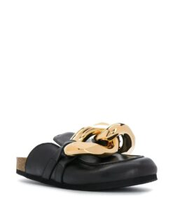 JW Anderson Black Chain Loafers