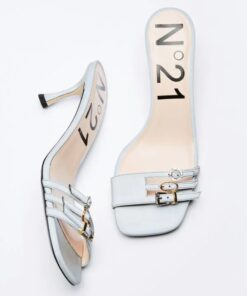N21 Buckled Mules Grey