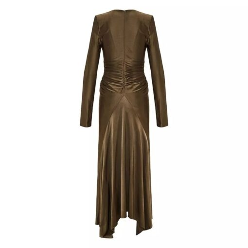 ALEXANDRE VAUTHIER Plunging ruched dress