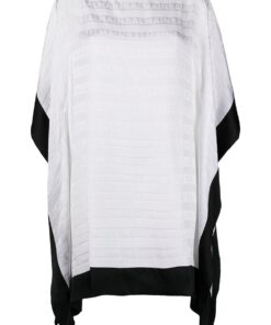 BALMAIN Iconic Stripes Short Kaftan