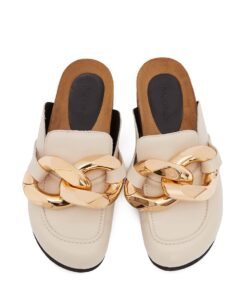JW Anderson Beige Chain Loafers