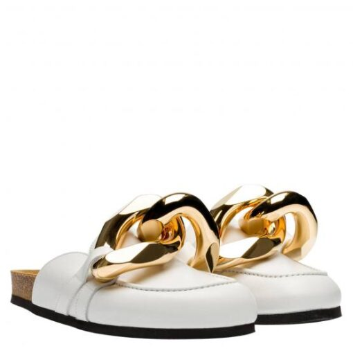 JW Anderson White Chain Loafers