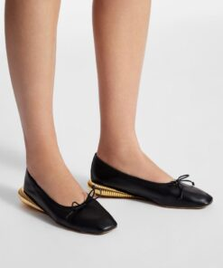 LANVIN Leather Bumpr Ballerinas