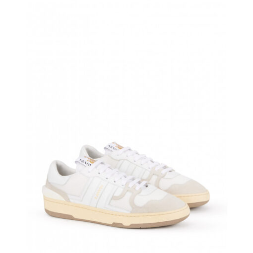 Lanvin Leather Clay Low Top Sneakers