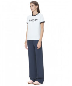 Lanvin logo T-shirt light blue