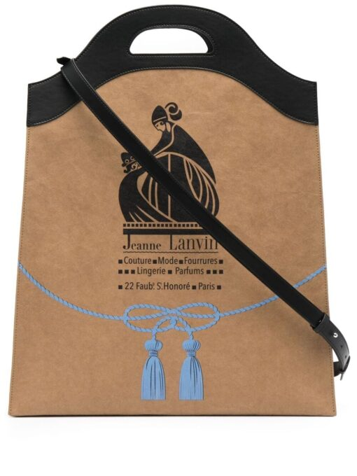 Lanvin Mother and Child logo tote bag