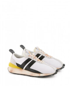 Lanvin Nylon Bumpr White Sneakers