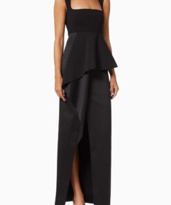 Solace London Ally black gown