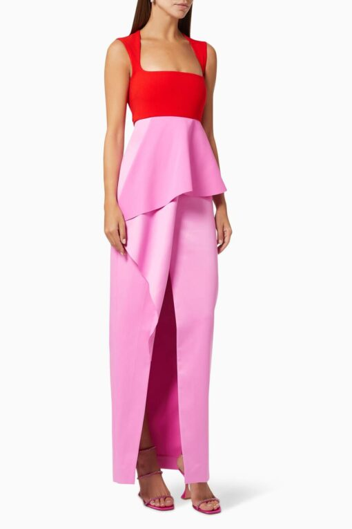 Solace London Ally multicolor gown