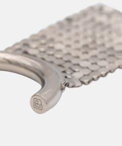 Paco Rabanne Pixel Hoop Earrings Silver