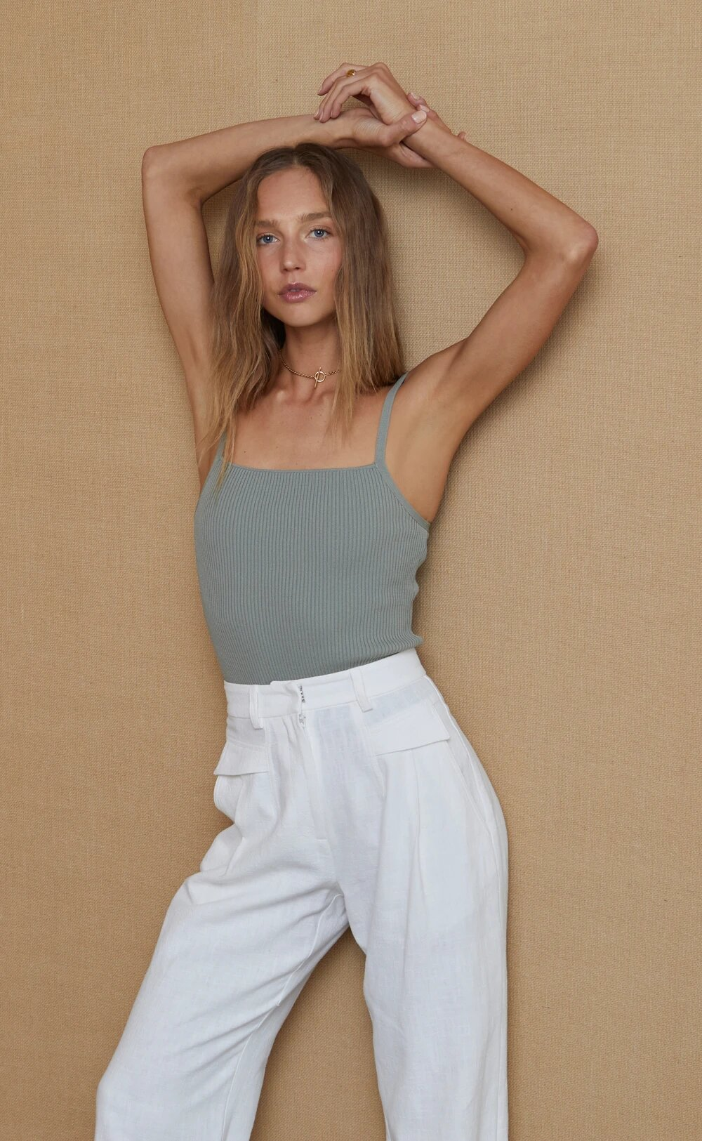 Penny knit top sage