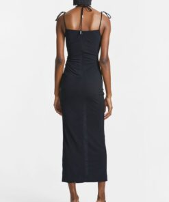 Dion Lee Gathered butterfly dress black