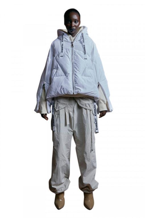 KHRISJOY puff iconic jacket white